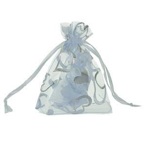 LASPERAL 25pcs Bunte Jewlery Verpackungsbeutel Beutel Organza-Geschenk-Beutel passender Wedding / Weihnachtsdekoration Drawable Favor 7x9cm