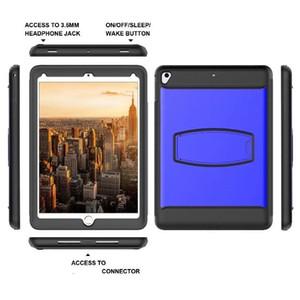 KUKE tuta blindata robusto cavalletto antiurto per iPad 9,7 2018 2017 2016 iPad Air 2 Build-in della protezione dello schermo 100PCS / LOT