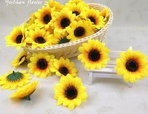 Flor de simulación de bricolaje girasol hecho a mano, girasol, flor de seda, flor de crisantemo, cabeza de flor L423