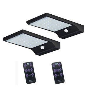 LED الطاقة الشمسية الخفيفة التحكم عن بعد 7 لون قابل للتعديل 48LED مقاوم للماء السوبر مشرق الصمام الشمسية حديقة ضوء