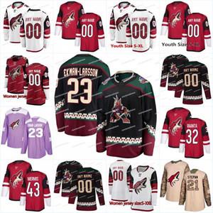 2018 nova temporada 46 Trevor Murphy 31 Adin Hill Arizona coiotes 35 Darcy Kuemper 30 Marek Langhamer 1 caçador Miska 32 Raanta camisas de hóquei