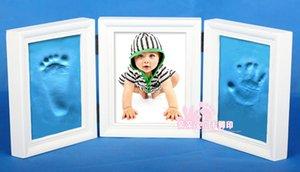 Hand, Foot and inkpad bebê recém-nascido handprints pegadas lembrança poeira foto molduras com 200g inkpad