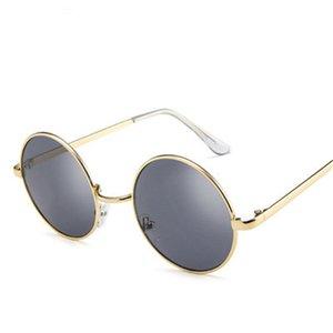 NEW retro round sunglasses women men brand sun Glasses for women's Alloy mirror sunglasses lentes female