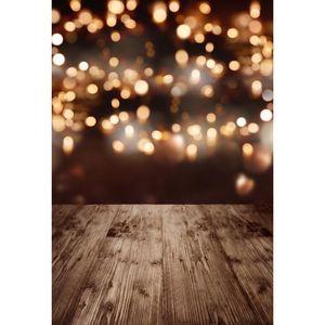 Bokeh Photography Backdrops 사진 스튜디오 웨딩 사진을위한 나무 바닥 배경 베이비 샤워 신생아 어린이 및 어린이 정의