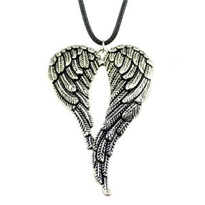WYSIWYG Wings N6-B12303 Necklaces Chain Leather Choker Pendants Collar Male Double 5 Necklace 68x46mm Fashion Big Pieces Ddcna