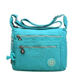 Novo oblíquo one-shouldered straddle bag com multi-nível leve impermeável bolsa de mulheres de lazer