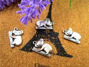 Charms 45pcs-Koala, pendenti antichi in argento tibetano Koala 19x14mm