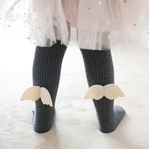 Autumn Winter New Baby Girl Legging Children Pant Baby Girl Cotton Socks Angel Wings Flower Children Dance Pant Tights Stockings