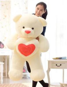 39'' Giant hugeTeddy Bear 100cmPlush soft toys doll gift Holding LOVE Heart