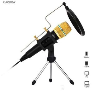 Professional condenser Microphone for Computer with Stand for Phone microphones Podcasting iphone microfone Karaoke mic XIAOKOA