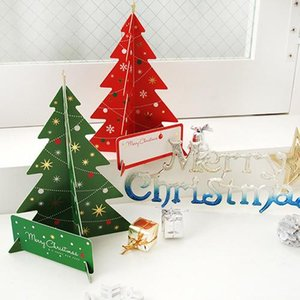2018 Christmas 3D stereo color print DIY Christmas creative blessing greeting card Christmas party gift card high quality