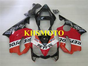 Kit carenatura moto per HONDA CBR600 F4I 01 02 03 CBR600 F4I CBR600F4I 2001 2002 2003 ABS nero nero Carenatura set
