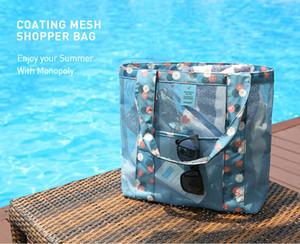 Plaj Çantaları Yoğun Örgü Çanta Kadın Moda Plaj Seyahat Çantaları Omuz Çantası Moda Alışveriş Çantaları