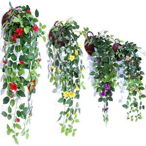 Simulación Artificial Colgar Cestas Flor Falsa Rose Vines Wedding Wall Hanging Salón Balcón Decoración Del Hogar Colorido 10 35 mh ff