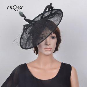 Новый черный большая тарелка чародей свадебные шляпы Fedora для Кентукки Дерби,Кубок Мельбурна,Ascot гонки,свадьбы,вечеринки