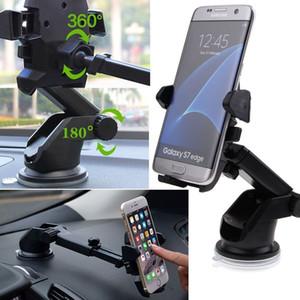 Preto Eletrônico 360 ° universal carro brisas Painel Mount Holder Para GPS PDA Móvel Celular 3894