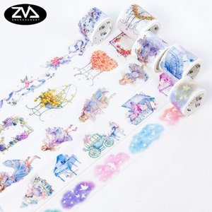 1X Fairy tale story wide Washi Tape Scrapbooking Diary DIY Decorative Adhesive tape Masking Office label sticker stationery 2016