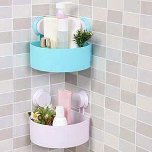 Baño Shelf Shampoo Holder Pasta de dientes Cepillo de dientes Corner Triangle Shelf Double Sucker Storage Rack para cocina Baño