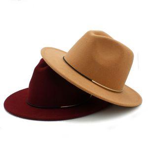 Mode Laine Femmes Outback Fedora Chapeau Pour Hiver Automne ElegantLady Floppy Cloche Large Bord Jazz Caps Taille 56-58CM K40 D18103006