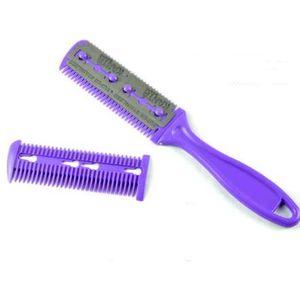 1 * pinceaux de maquillage brosse à cheveux Pro Hair Razor Comb Ciseaux de Coiffure Tondeuses Cheveux Lames de Rasage Couper Mincir Styling Tool