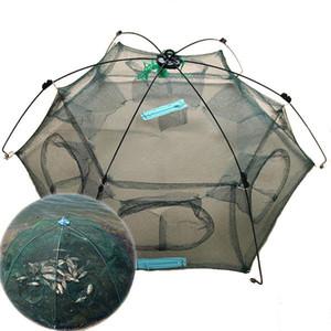 Nuevo diseño de plegado 80x80cm paraguas / 100x100cm plegable cangrejo peces Minnow Pesca molde de la trampa Red Red de pesca