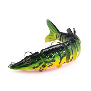 12.5 cm 20g 8-segment Isca Yapay Pike Cazibesi Muskie Balıkçılık Lures Swimbait Crankbait Hard Bait Balıkçılık Aksesuar Mücadele