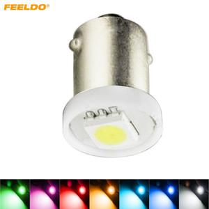 FEELDO 50шт DC12V автомобиль BA9S T4W 1895 5050 1smd 1LED лампа автомобиля светодиодные лампы для чтения свет 7-Цвет #4808