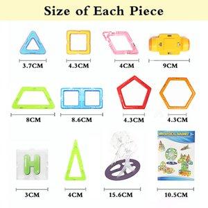 Mini 17-31 Pcs Kids Magnetic Blocks Construction Enlighten Assembly Building Toys Educational DIY Plastic Technic Brick
