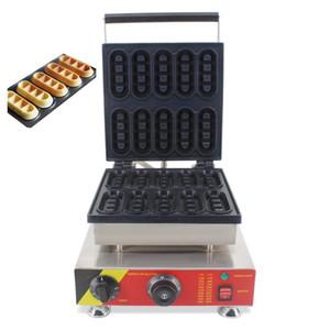Comercial Eléctrica 10 unids Mini Belga Waffle Dedos Dippers Makers Máquinas Huevo Waffel Stick Baker Hierro Grill Grill Cocina Molde