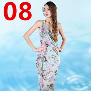 Roupas de verão Chiffon Capes Impresso Xale Solto Feminino Bikini Beachwear Swimsuit Cover Up Protetor Solar Longo Xales Cape