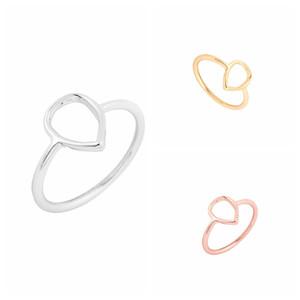 Min 1pc Regentropfen Gold / Silber / Rose Gold Farbe Ring, birnenförmige Tropfen Ring geometrische Ring JZ044