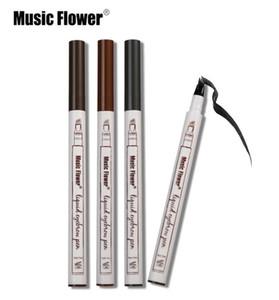 حار الموسيقى زهرة ماكياج غرامة رسم السائل الحاجب قلم للماء الوشم سوبر دائم لطخة العين الحاجب القلم