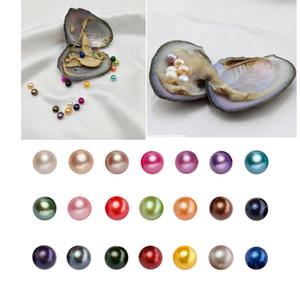 Yuvarlak Akoya İstiridye Pearl 6-8mm Doğal 28 Mix renk büyük Tatlı su Hediye DIY Doğal İnci Gevşek Süsleri Vakum Ambalaj boncuk
