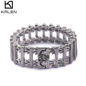 220MM 316L Titane En Acier Inoxydable Bracelet Animal Pour Hommes Hommes Traditionnel Charme Bijoux en gros en ligne KALEN