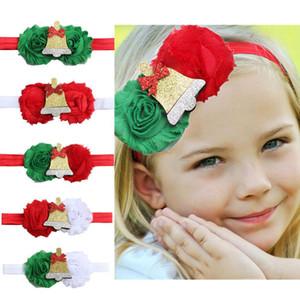 Crianças Natal acessórios para o cabelo Bebé Headband Flores de Jingle Bell Faixa de Cabelo Limite Cheap Wholesale