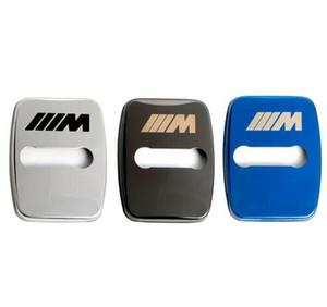 4 قطع سيارة التصميم سيارة الباب قفل غطاء القضية ل bmw 1 2 3 5 6 7-series x1 x3 x4 x5 x6 m1 m3 شارات السيارات الملحقات سيارة التصميم