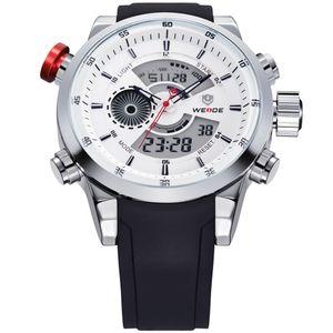 2017 Hommes Montres WEIDE Top Marque De Luxe Quartz Hommes Mâle Horloge Numérique LED Montre Militaire Sport Montre Montre relogio masculino WH3401 S1019