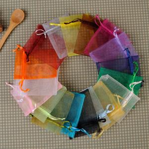 Multi colore piccolo sacchetto dei monili sacchetto del cordone di Oganza per stoccaggio di imballaggio dei monili regalo di favore di cerimonia nuziale sacchetto di involucro di Chirstmas 7x9cm