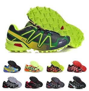 2018 Yeni gelmesi Zapatillas Speedcross 3 Koşu Ayakkabıları Yürüyüş Açık Hız çapraz Spor Sneakers iii Atletik Yürüyüş Boyutu 40-46