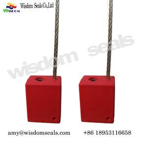 WDM -CS 518-4 zinc alloy plastic coated cable seal adjustable length sling cable seal with a diameter of 1.8 mm