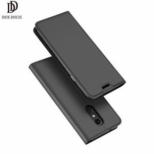 En gros de luxe pour LG Q7 cas flip et couvre la peau Pro titulaire de la carte Stand portefeuille en cuir affaire pour LG Q7 couverture arrière en cuir