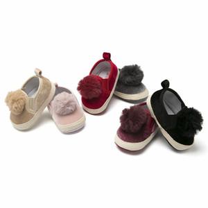 Niño recién nacido Niña Zapatos de bebé Mocasines Moda Moccs Zapatos Niño pequeño Pompón lindo Primeros andadores Fringe Botas de suela blanda