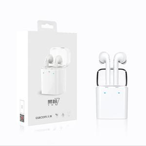 Dacom GF7S TWS Verdadeiro Sem Fio Bluetooth Fones De Ouvido V4.2 fone de Ouvido Estéreo Fones De Ouvido para Samsung Smartphones telefone celular
