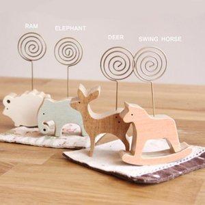 8 stile animali forma di legno segnaposto titolare della camera da letto decorare i regali decorazione di nozze per feste di Natale