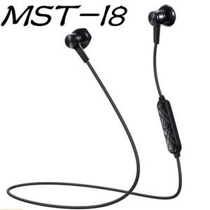 MST-I8 Magnetic fones de ouvido Bluetooth Estéreo Microfone Sem Fio fone de Ouvido Esportes fones de ouvido Bluetooth para Samsung S9 8 Iphone X 8 com varejo B