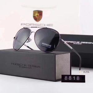 Novos homens e mulheres high-end óculos polarizados retro óculos de sol óculos de condução clássicos 8818 4 opção de cor