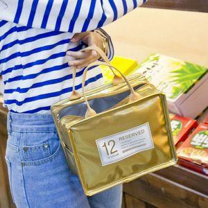 جديد المحمولة كاندي اللون ماء العزل حقيبة الغداء مربع الجليد حزمة السفر الغذاء نزهة حمل حقيبة