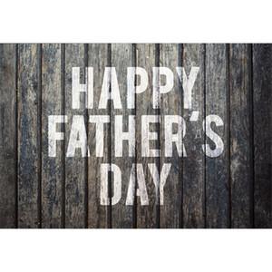 Mur de fond en bois sombre Vintage heureux jour de la fête des pères photographie 3ème dimanche de juin Cabine de photo sur le thème de papa's Party fond