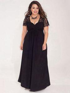 Grandes tailles robe de soirée ukraine dames longue robe élégante mode soirée d'été dîner longueur de plancher robes femmes 3XL 4XL 5XL 6XL