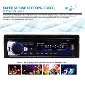 JSD520 Car Radio 12V Bluetooth V2.0 Car Stereo MP3 In-dash 1 Din FM Ingresso Aux Receiver SD USB MP3 MMC WMA Autoradio Player